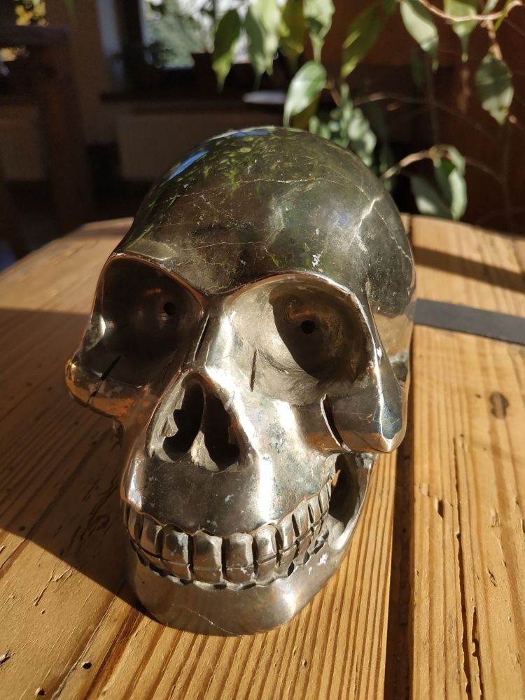 Lebka ,Skull,Schädel Pyrite XXL Velka/Big one