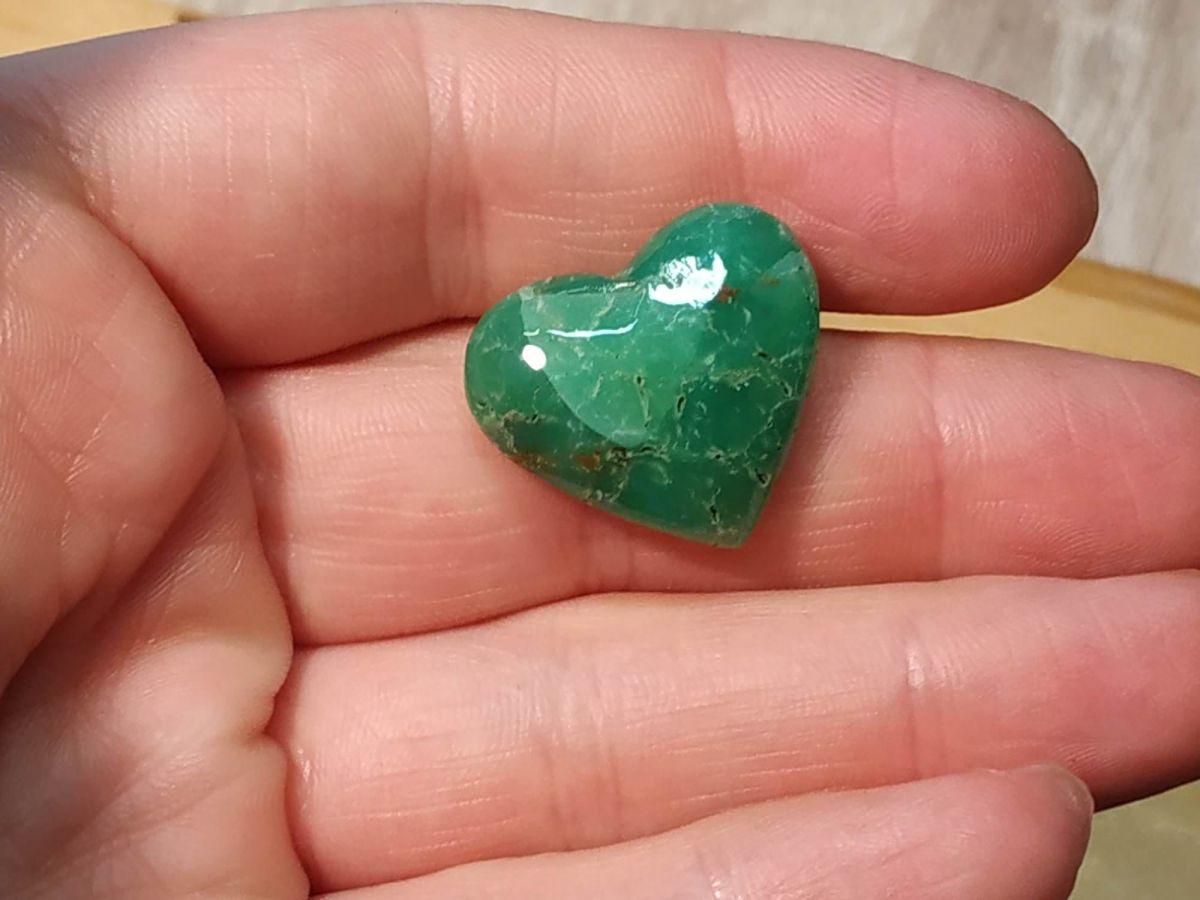 Srdce/Heart/Herz Chrysoprase 2,5cm Vzácny Vzácny⚝