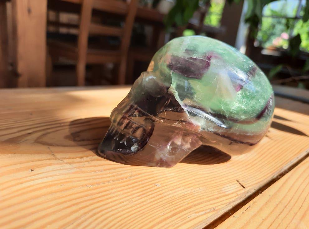 Lebka/Skull/Schädel Fluorite 8.5cm