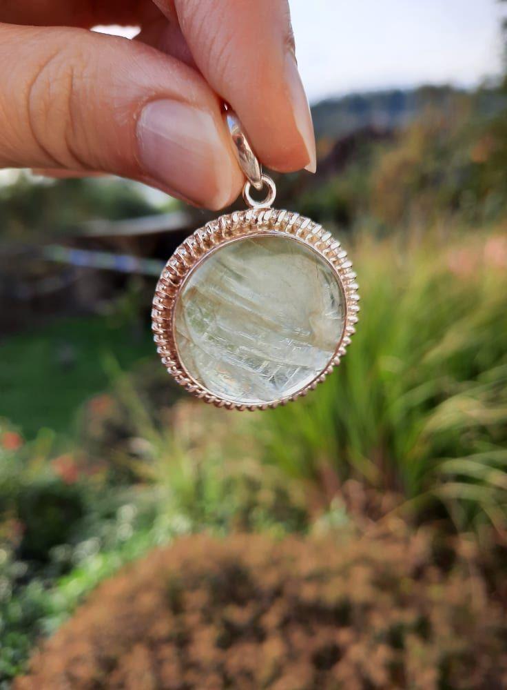 Přivešek střibro/Pendant in Silver/Silber Zelený Kyanite/Green 4cm vzácny/rare