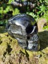 Lebka/Skull/Schädel /černy/Black/Turmalin Tourmaline XL 11cm