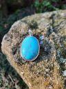 Přivešek střibro/Pendant in Silver/Silber Tyrkys Pravý/Turquoise true vzácny/rare 4,5cm