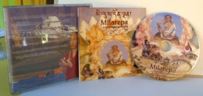 CD Audio Prayers and Life of Milarepa in Tibetan language