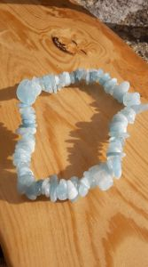 Very Rare Aquamarine chip stone,bangle