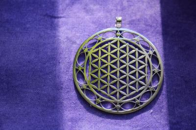 Flower of life pendant silver colour 45 mm,Better quality and details,