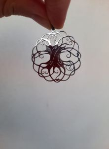 Pendant Tree of Life, Yggrasil,Silver colour,44mm