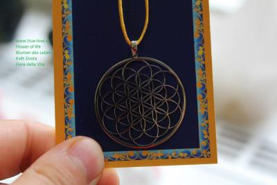 Flower of life pendant silver colour 35mm