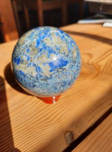 Azurite Koule/Sphere/Ball extra 6,5cm