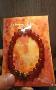 Bangle for Aries,Leo and Virgo/Carnelian with Tiger Eyes